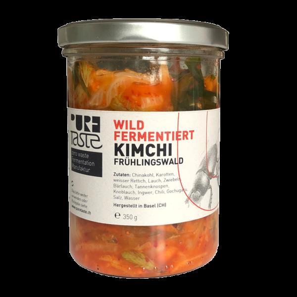 Kimchi wild – mit Tannenknospen und Bärlauch – hergestellt in der Schweiz