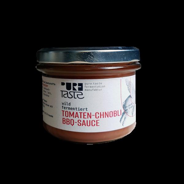 BBQ-Sauce aus fermentierten Tomaten, aus regionalen Gemüse
