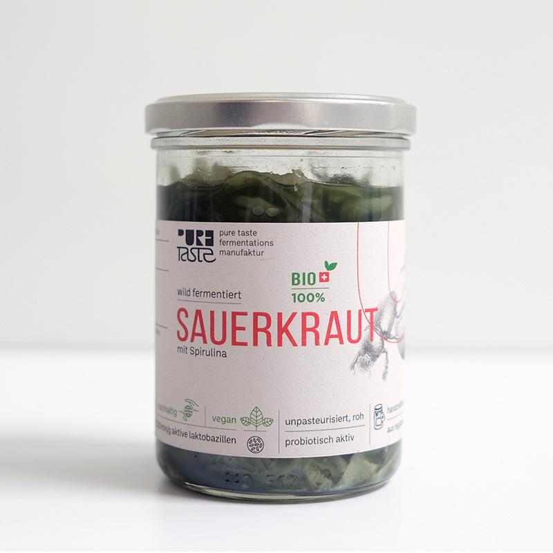 Spirulina Sauerkraut hergestellt in Fermentations-Manufaktur Basel